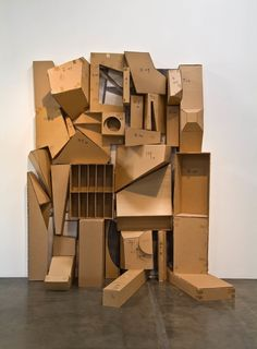 Rachel Lachowicz, Untitled: 3D Sketch, 2010, Cardboard and paper
