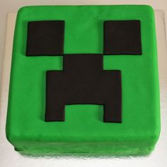 "So what is a Creeper? I s'pose you could define a ""creeper"" as an armless bomb with legs. Because in the game of Minecraft , Creepers . Bolo Minecraft, Minecraft Birthday Cake, Minecraft Cake Creeper, Boy Birthday Parties, 7th Birthday, Birthday Ideas, Torta Candy, Bolo Original, Creeper Cake"