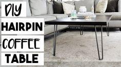 DIY Hairpin Leg Coffee Table for $100