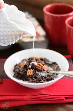 Dark Chocolate Cherry Oatmeal {Vegan, Gluten-Free}