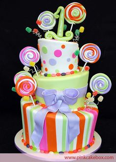 First Birthday Candy Cake