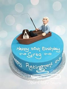 60th Birthday Cake For Men, Boat Cake, Fishing Boats, Party Ideas, Sea, Desserts, Image, Food, Pastries