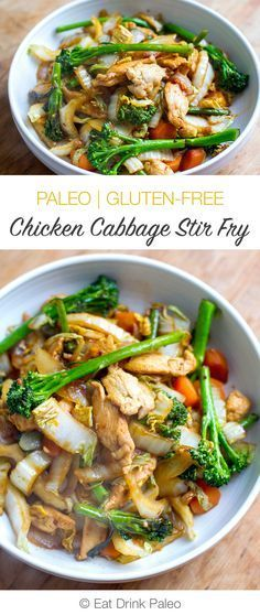 Quick and Easy Chicken Cabbage Stir Fry | http://eatdrinkpaleo.com.au/chicken-cabbage-stir-fry-recipe/