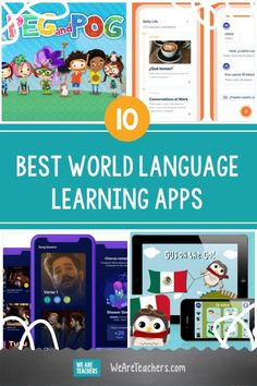 Best World Language Learning Apps for Kids and Schools Elementary Spanish, Teaching Spanish, Learning Apps For Students, World Language Classroom, We Are Teachers, World Languages, Free Education, Learn A New Language, Vocabulary Words