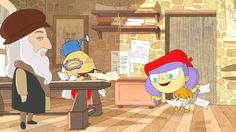 Art with Mati and Dada –  Leonardo Da Vinci   Kids Animated Short Storie...