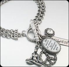 Inspirational Bracelet Silver Inspirational by BlackberryDesigns, $68.00