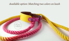 Matching colors for leash and collar with swarovski. For custom request contact me: www.etsy.com/shop/KatiesAtelier #walkingwithourdogs #leatherdogcollar  #dog #dogcollar #ropeleash #dogleash Rope Leash, Matching Colors, Leather Dog Collars, Leather Accessories, Swarovski, Trending Outfits, Unique Jewelry, Handmade Gifts, Bracelets