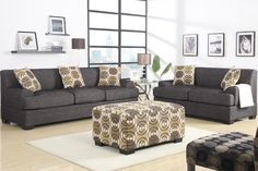 Sofa F7447 Go bold and beyond with this striking 3-piece versatile sectional in a textured linen. Sofa Sale for $645