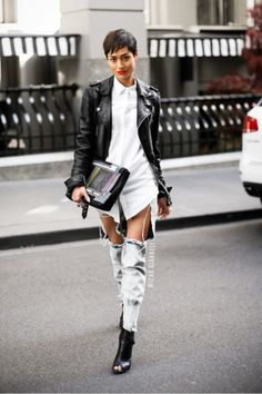 Trend Report + DIY: Ripped Jeans  Totally will be cutting jeans like this.. but hah's b/c ripped jeans are always stylin, just like camo is.Why do people need someone to tell them when it's a trend? I guess it comes down to  fashion vs. style. <3