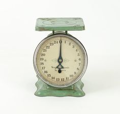 Antique Teal Green Kitchen Scale by tawneyvintage on Etsy, $65.00