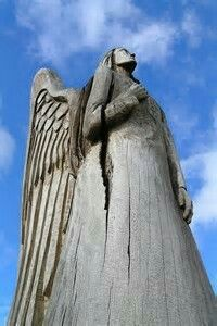Wood Carving Angel By Leo Reynolds