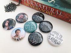 Übernatürliche Pins Supernatural Schaltflächen Dean Winchester Pin Pin Castiel Sam Winchester Pin Supernatural fixiert übernatürliche Buttons