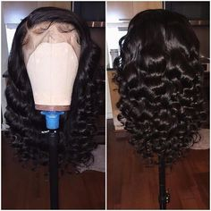 Beautiful long wavy wigs for black women lace front wig hairs of human hair long wavy hairstyles - Diy Hairstyles Curly Wigs African American, Wig Styling, Curly Hair Styles, Natural Hair Styles, Natural Wigs, Natural Hair Growth, Natural Baby, Long Wavy Hair, Short Hair