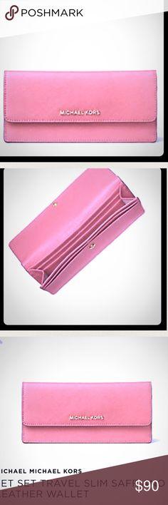 Michael MK jet set peach pink NWT many compartment Michael MK jet set peach pink NWT many compartment wallet MICHAEL Michael Kors Bags Wallets