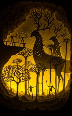 Hari & Deepti light boxes in papercut