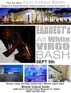 Help #EarnestWalkerJr celebrate his Virgo birthday at #FirstFridaysMiami