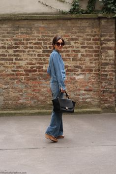 #flare #jeans #pants #trousers #wide #leg #denim #on #denim  #celine #black #trapeze http://www.thankstofashion.com/i-am-a-70s-girl-flare-jeans/