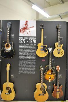 Ibanez Vintage Ausstellung  1977 - 1979 #Ibanez #Vintage #Guitars