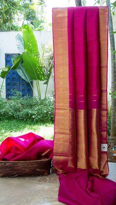 KANCHIVARAM SILK L06017 South Indian Wedding Saree, Saree Wedding, Malayali Bride, Bengali Bride, Indian Look, Handloom Saree, Silk, Renaissance, Yards