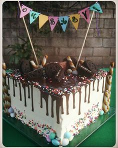 Baby shower Chocolate Drizzle Cake