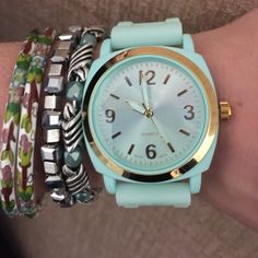 ANTHROPOLOGIE Viscid Watch Mint ANTHROPOLOGIE Viscid Watch Mint. Watch only...bracelets used to show styling not included Anthropologie Accessories Watches