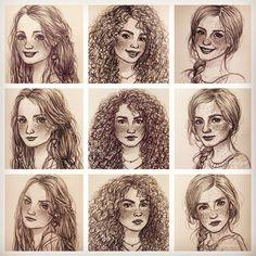 Luna, Hermione & Ginny {x} | artist: susanne draws