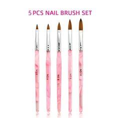 ACRYLIC Brush Nail Art Supply – SAINTCHiC Acrylic Nail Brush, Acrylic Brushes, Nail Art Brushes, Nail Manicure, Diy Nails, Gel Nail, Nail Art Supplies, Nail Art Tools, Hairdressing Courses