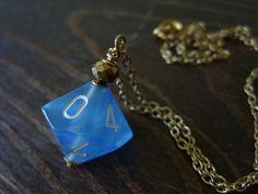 blue D10 dice pendant dungeons and dragons pendant mint dice teal pendant D10…
