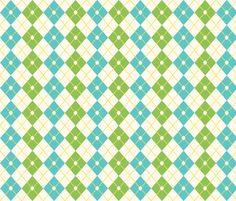 Preppy Argyle fabric by gypsy_magnum on Spoonflower - custom fabric