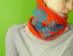 PDF knitting pattern Stem and Leaf Cowl by elf518 on Etsy, $5.00