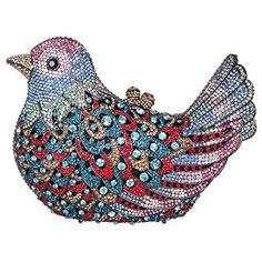 Fawziya Bird Hard Case Clutch Purse Luxury Crystal Evening Clutch BagsNavy Blue *** Read more  at the image link.