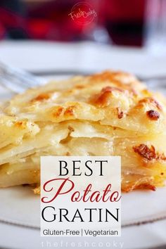 This Gruyere Potato Gratin is the best scalloped potato recipes Youll love the rich creamy flavors with garlic rosemary and thyme Recipe on Scalloped Potato Recipes, Scallop Recipes, Best Scalloped Potatoes, Scallop Potatoes, Christmas Potatoes, Thyme Recipes, Stick Of Butter, The Fresh, Holiday Recipes