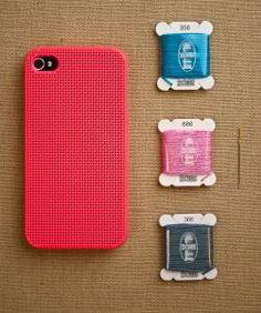 Cross stitch iphone cover