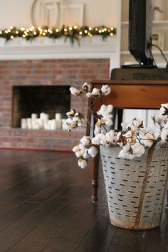 78...I LOVE olive baskets, and i love the cotton branches