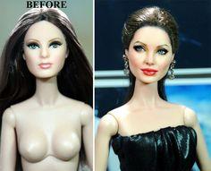 Repainted dolls, Angelina Jolie