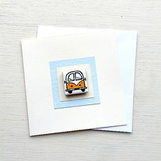 Campervan Card Yellow, Combi, Splitscreen, VW, Birthday Card, Greeting Card, Blank Card, Magnet Card, Childrens Card Cellophane Wrap, Plastic Waste, Blank Cards, Campervan, Girl Gifts, More Fun, Vw, Birthday Cards, Magnets