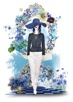"""""""Blue & White"""" by taniucha ❤ liked on Polyvore featuring art and doll"""