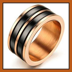 King Will Black Tungsten Carbide Rings for Men Polished Beveled Edge Double Groove Wedding Bands - Jewelry Gold Wedding Rings, Wedding Bands, Wedding Engagement, Rose Gold Band Ring, Gold Ring, Gold Finger Rings, Tungsten Carbide Rings, Stainless Steel Jewelry, Fashion Rings