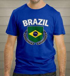 Brazil Football Club World Cup Brasil 2014 Blue T-Shirt size S-2XL New - T-Shirts, Tank Tops