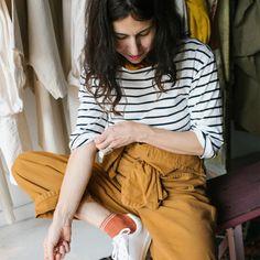 la marinera nunca pasa de moda! April Hughes, estilista /asesora de moda, propietaria de Oroboro