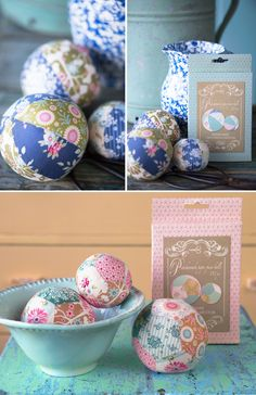 Paper Piece Patchwork Balls