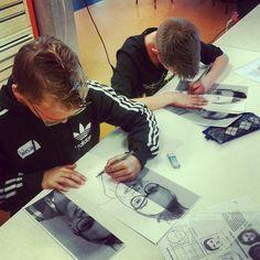 Groep 8 MIK (meer intelligente kinderen) in actie bij 2d Teaching Art, Cool Kids, Workshop, Teacher, Education, Cool Stuff, Rembrandt, Drawing, Crafts