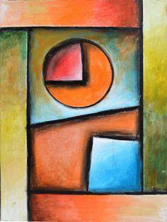 """Viva La Geometria! 4"" by ARKADY - acrylic abstract painting on canvas"