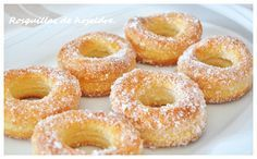 Rosquillas de hojaldre Authentic Mexican Recipes, Bakery Recipes, Kitchen Recipes, Dessert Recipes, Pan Dulce, Hispanic Desserts, Donuts, Quirky Cooking, Best Sweets