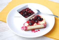 Yummy cheesecake with forest fruits...my perfect cake!