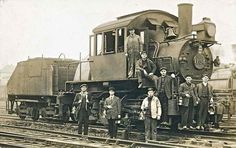 The gang poses with #1154, a Philadelphia & Reading locomotive. It's a shame we don't know the names of these men.