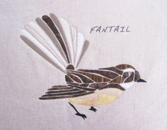 Fantail, by Tegan Montgomery-Williams for the Apple Basket Apple Baskets, Mosaic Birds, Basket Crafts, Mosaic Bathroom, Basket Quilt, Bird Houses, Stained Glass, Quilting, Embroidery