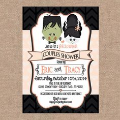 Halloween Baby Shower Invitations Couples Shower Weve Created a