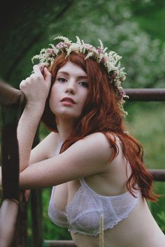 Perfect Floral Crown | Secret Garden Boho Flower Bed Boudoir | Photograph by F/stop Poetry