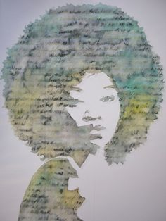 Saatchi Online Artist: Adit Goschalk Watercolor with extracts from Wuthering Heights #afro